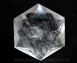 Estrela De Davi Ou Selo de Salomão Pedra Cristal De Quartzo 50 a 100 G