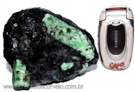 Esmeralda Canudo Incrustado Xisto Pedra Natural Cod CE8560