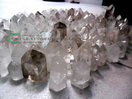 50 kg Cristais Gerador Quartzo Lapidado COMUM Pedras de Garimpo
