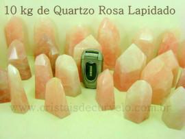 10 Kg Pontas Quartzo Rosa Gerador Lapidado Pedras de Garimpo