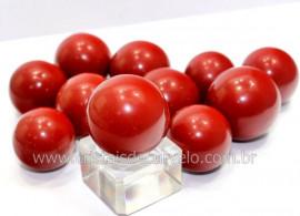 01 Mini Bola Pedra Jaspe Vermelho Esfera Pequena Em Pedra Natural Reff 32.6