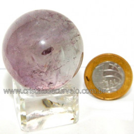 Esfera Ametista Pedra Comum Qualidade Natural Cod 113379