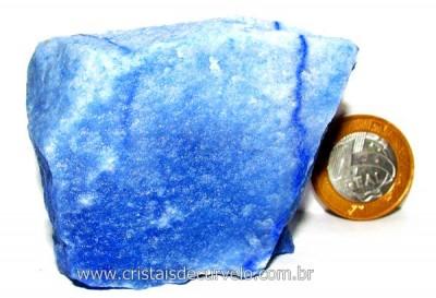 Quartzo Azul ou Aventurina Azul Pedra Bruto Natural Cod QA3538