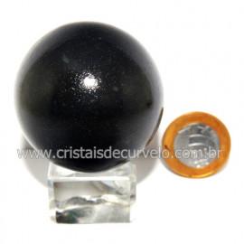 Esfera Pedra Quartzo Preto ou Quartzito Natural Cod 123881