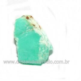 Crisoprasio Bruto Lasca No Estojo Mineral Natural Cod 118541