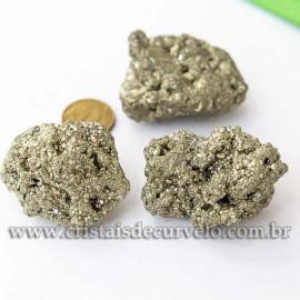 01 Pirita Peruana Pedra Bruto 50 mm Aprox 100 a 150 GR