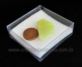 Calcedonia Verde Natural No Estojo Ideal P/Coleção Cod 104732