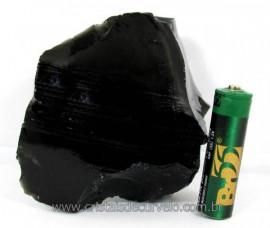 Obsidiana Negra Mineral Vulcânico Pedra Natural Cod 104424