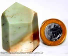 Ponta Pirofilita Verde Gerador Pedra Com Dendrita Cod 101509