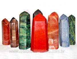 01 kg Cristal Gerador Pedras Mista Pontas Lapidado COMUM  Natural ATACADO