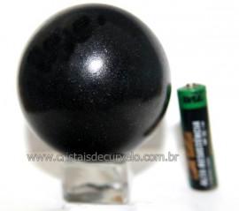 Esfera Pedra Quartzo Preto ou Quartzito Natural Cod BP6585