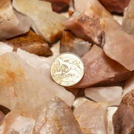 01kg Cascalho Quartzo Goiaba Pedra Bruto Pra Orgonite 125557