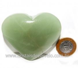 Coração Quartzo Verde Natural Comum Qualidade Cod 119830