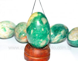 Ovo YONI Pedra Jade Verde pra Pompoarismo FURADO LEIA TODO ANUNCIO OF8716