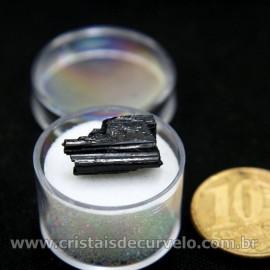 Turmalina Preta Canudo no Estojo Para Colecionar Cod 196933
