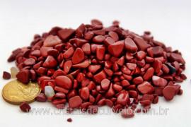 Jaspe Vermelho Natural Rolado Miúdo Pct 100 Gr Reff 107366