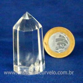 Voguel Cristal 01 Ponta Pedra Natural 12 Facetas Cod 123399