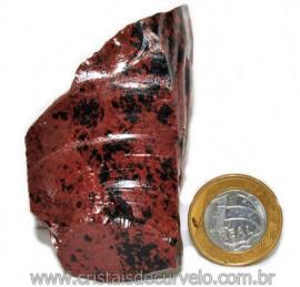 Obsidiana Mogno ou Mahogany Pedra Bruta Vulcanica Cod 115842