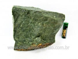 Basalto Verde Bruto Pedra Pra Colecionador ou Estudante de Minerais Geologia Cod  895.0