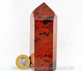 Ponta Obsidiana Mahogany ou Mogno Mineral Lava Vulcanica Natural Boa Qualidade Cod 319.5