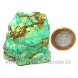 Crisoprasio Bruto Natural Pedra Familia da Calcedonia Cod 123162