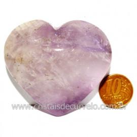 Coraçao Ametista Pedra Natural Ideal P/Presentear Cod 119155