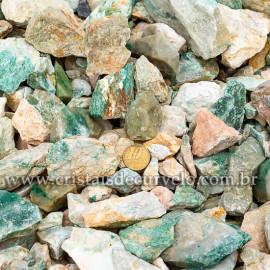 01kg Cascalho Jadeita Verde Pedra Bruto Pra Orgonite 112881