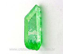 Ponta Crystal Aura Apple ou Maça Verde Pedra Bruta Cod AA8683