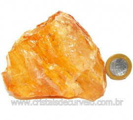 Hematoide Amarelo Pedra Bruto Quartzo Natural Cod 114650