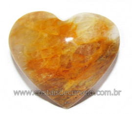 Coração Hematoide Amarelo Natural Presente Ideal Cod 116026