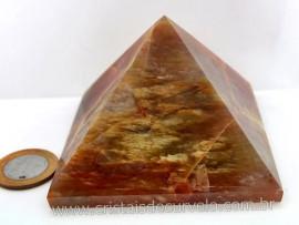 Piramide Aragonita Vermelha Pedra Grande Natural Medidas Baseada em Queops Cod 455.6