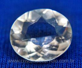 Gema Cristal Facetado Pedra Quartzo Montagem Joia REFF GCv