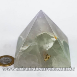 Pirâmide GRANDE Pedra Fluorita Natural Queops cod 120721