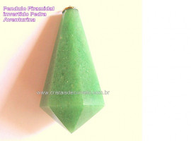 Pendulo AVENTURINA  Piramidal ou Invertido Pedra Comum Corrente de Brinde