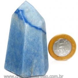 Ponta Quartzo Azul Pedra Natural Gerador Sextavado Cod 113481