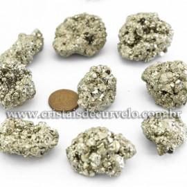 10 Pirita Peruana 35mm Pedra Bruta Natural P/ Orgonite ATACADO