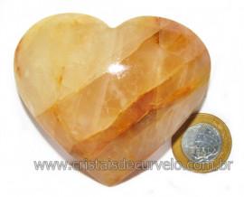 Coração Hematoide Amarelo Natural Presente Ideal Cod 115965