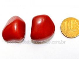 02 Jaspe Vermelho Rolado Pedra Natural de Garimpo Esoterismo Colecionador Reff 21.7
