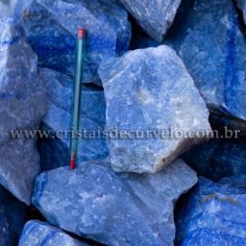 20kg Quartzo Azul ou Aventurina Azul Pedra Bruta Pra Lapidar Pacote Atacado