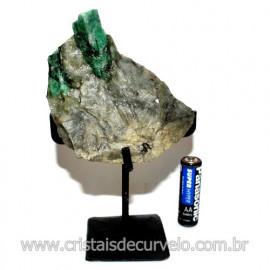 Esmeralda Canudo Pedra Natural com Suporte De Ferro Cod 119333