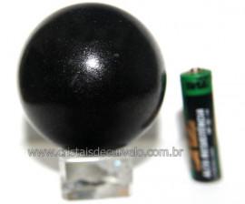 Esfera Pedra Quartzo Preto ou Quartzito Natural Cod BP5381