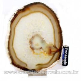 Chapa de Agata Preta Porta Frios Bandeja Pedra Natural 127033