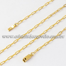 Cordão ou Correntinha Modelo CARTIER 60CM Dourada Reff 112517