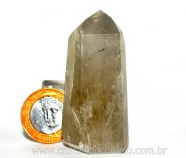 Ponta Prasiolita ou Ametista Verde Pedra Natural Cod PP3747