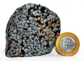 Obsidiana Flocos de Neve Pedra Vulcânica Natural Cod 104412