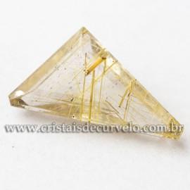 Rutilo Gema Trillion Pedra Natural Montar Prata e Ouro 112761