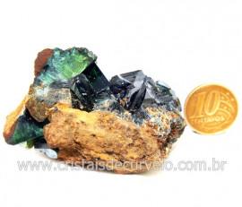 Vivianita Extra Pedra Matriz Siderita Bruta Natural Cod 127874
