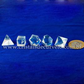 Kit Radionico Cristal Solido de Platao Quartzo Facetado 112901