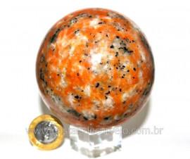 Esfera Calcita Laranja Bola Pedra Natural Medio Cod EC1497