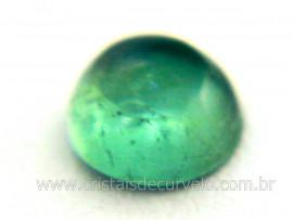 Gema Turmalina Azul Lisa Pedra Natural 0.6ct 5mm Reff TA9613